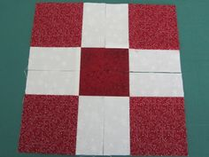My Patchwork Quilt: FROM A NINE PATCH TO A.....shows lots of different patterns you can get with a disappearing nine patch.