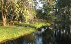 BASS LAKE LODGE - Pretoria Dit is geleë in die prentjiemooi Bobbejaansberg, ongeveer 30 minute noord-oos van Pretoria. Die karavaanpark, met 'n uitsig oor 'n pragtige dam, spreek van 'n saligheid en plesier wat net die natuur kan bied. Bass Lake, Pretoria, Glamping, Golf Courses, River, Outdoor Ideas, Go Glamping, Rivers