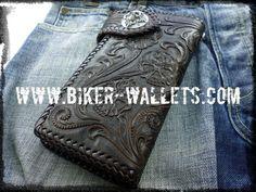 """Crypt"" 8"" Leather Men's Biker Wallet"