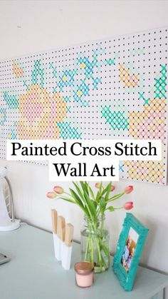 Diy Arts And Crafts, Home Crafts, Fun Crafts, Cross Paintings, Diy Home Decor Bedroom, Craft Room Decor, Crafty Craft, Crafting, Diy Wall Art