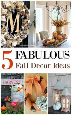 The Life of Jennifer Dawn: 5 Fabulous Fall Decor Ideas and A Little Bird Told Me Link Party