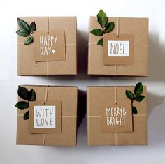 I love these simple gift tags and the use of twine.