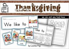 Thanksgiving Fluency Flip Book & Writing Prompt {FREE}***The complete Thanksgiving unit of 6 flip books is available here! ****** This flip book is included in my Flip Book MEGA BUNDLE!*** I have made this Thanksgiving flip book to address the Kindergarten (Prep) and 1st Grade level of learning and reading.How to use this book:To Assemble the flip book: Cut around each rectangle box, then along the dashed lines of the bottom rectangle.
