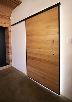 Recycled timber interior sliding door in a steel frame. Made in Melbourne shipped nationally around Australia. - March 26 2019 at Indoor Outdoor Kitchen, Recycle Timber, Recycled Timber Furniture, House Doors, House, Home Decor, Barn Doors Sliding, Timber Sliding Doors, Doors Interior