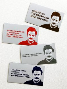 Ron Swanson Magnets by courtney2kdesign on Etsy, $12.00