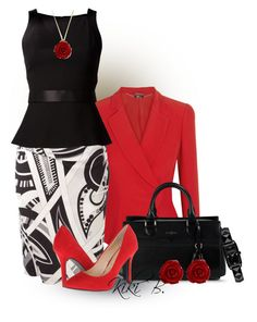 A fashion look from April 2014 featuring Jason Wu tops, Alexander McQueen jackets and Emilio Pucci skirts. Browse and shop related looks. Classy Outfits, Chic Outfits, Pretty Outfits, Fashion Outfits, Womens Fashion, Work Fashion, Modest Fashion, Fashion Looks, Complete Outfits