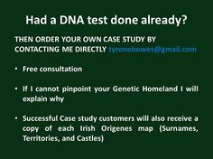 Had a DNA test done already?  Contact Dr. Tyrone Bowes for a customised case study.
