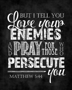 Scripture Art   Matthew 5:44 Chalkboard by ToSuchAsTheseDesigns