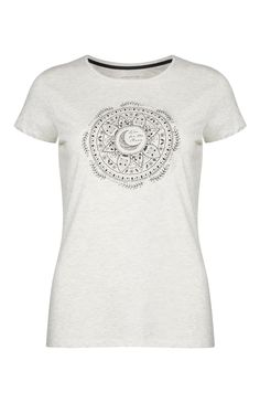 Primark - Camiseta estampado mandala color crudo