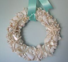 Great way to hang the sea shell wreath that I already have
