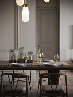 Used Modern designed Pendants lights lighting up the details of this area . Apartment Projects, Apartment Design, Family Apartment, Interior Design Inspiration, Home Interior Design, Furniture Decor, Furniture Design, Classic House, Minimalist Decor