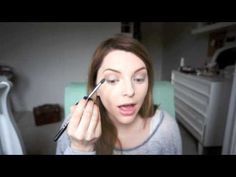 I love this tutorial about Maybeline Color Tattoo 24 Hr Eye Shadow Tough As Taupe and Essie Button is so adorable!