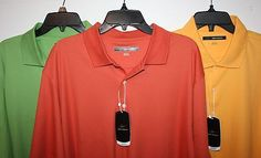 Mens Short Sleeve Polo/Golf Shirt Sizes L / XL or XXL 3 Colors by Greg Norman BRAND NEW