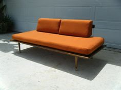Mid Century Danish Modern Platform Couch Day Bed by RevosRetro
