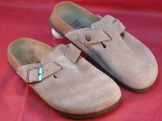 Birkenstock Betula Boston Clogs Mules Brown Suede Leather Women's Size 6 Nice #Birkenstock #Clogs