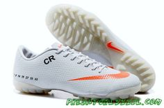 super popular 8c941 9cb5a Nike Mercurial CR7 TF White Orange Football Cleats, Mens Football Boots,  Soccer Boots,
