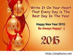 Be Happy wishes 2015 New Year wallpaper
