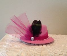 Royal Tea Hats - tea party, bridal shower, little girls tea party, weddings, church - the handmade, mini fascinator top hat clips to hair https://www.etsy.com/shop/royalteahats