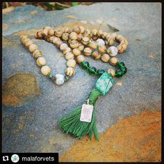 #Repost @malaforvets  I believe in #Karma and I believe in being #compassionate and #kind.  This mala made of white #Argawood #AntiqueAgate #CrazyLaceAgate and #ThaiSilver #lotus charm is headed to my #SpiritualGangtar