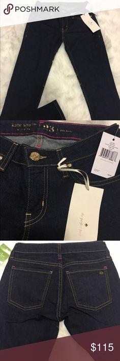 NWT Kate Spade Jeans City lights NJMU1250 Brooke street black denim - indigo (429)  $198 retail kate spade Jeans Skinny