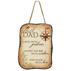 Title: Dad Slate Plaque By: Abbey Press
