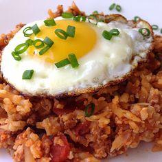 Worthy Pause | a lifestyle and paleo food blog : Paleo Chorizo Cauliflower Fried Rice