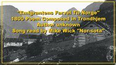 Emigrantens Farvel Til Norge 1800 Poem
