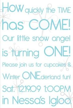 first birthday (winter)- I'll need this for baby girl #2!