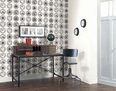 Collection :B&W Horloge #papierpeint #stickers #decoration #interieur #blackandwhite #noiretblanc #Caselio  http://www.caselio.fr