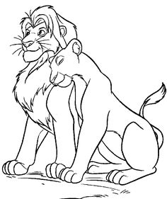Disney Coloring Pages - Simba & Nala