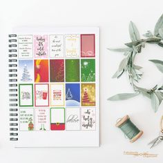 Looking for holiday full box stickers? I've got your back. Free holiday full box printable stickers for both EC and HP