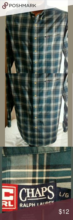Ralph Lauren Chaps Shirt Large Good condition. No stains or holes. Shirts Dress Shirts