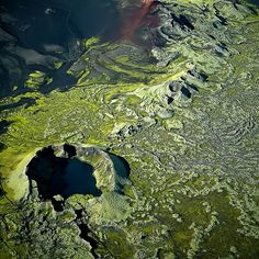 This is part of the Laki volcano. The Lakagígar are actually a 25 kilometer long row of craters in South Iceland. They were formed in an eru...