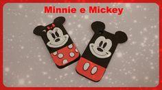 Capinha para Celular  -  Minnie e Mickey de EVA - Com abertura para lent...