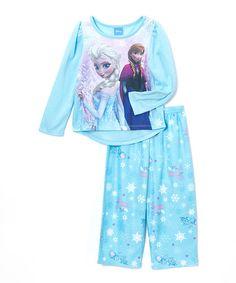 Love this Frozen Elsa & Anna Pajama Set - Toddler & Girls on #zulily! #zulilyfinds