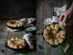 corona de pan para dippear
