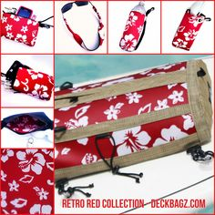 Retro Red Collection exclusively at https:www.deckbagz.com #beaches #retrosurf #paddleboarding #sup #florida #springbreak #flogrown #beachaccessories #boating #onthewater
