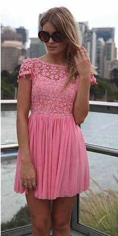 Short Sleeve Beach Plum Lace Bridesmaid Dresses For Wedding, Sexy Sheer Short…