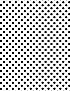 Black polka dots on a white background.  I could print this on coloured paper if I wanted.