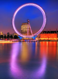 London Eye George Washington Bridge, London Eye, Marina Bay Sands, Fair Grounds, Eyes, Travel, Parks, London England, Trips