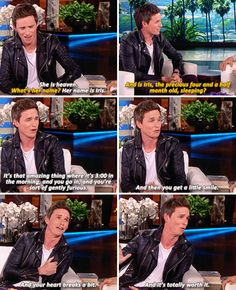 When he said this about his little four-month-old daughter, and your heart melted a little. | 23 Times Eddie Redmayne Was A Gift We Didn't Deserve
