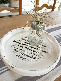 beautiful makeover of a lazy susan from the thrift store with a graphics fairy image