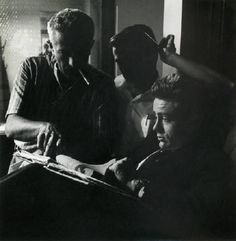 Nicholas Ray and James Dean read.