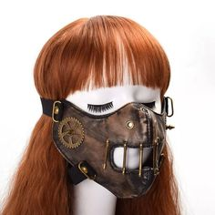 Cool Steampunk PVC Plastic Rivet Half Face Mask Cosplay Masquerade Halloween