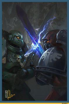 Warhammer 40000,warhammer40000, warhammer40k, warhammer 40k, ваха, сорокотысячник,фэндомы,Dark Angels,Space Marine,Adeptus Astartes,Imperium,Империум,David Sondered