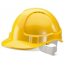 B-Brand Economy Vented Safety Helmet Yellow Safety Workwear, Construction Safety, Safety Clothing, Central And Eastern Europe, Safety Helmet, Branding Services, Work Trousers, Hand Saw, Workwear Fashion