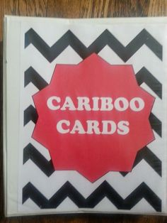 Rock Chalk Speech Talk: Cariboo Cards- How I use them, How I store them, and a compilation of cards with a FREEBIE!