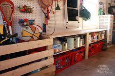 Organized Garage and Workshop