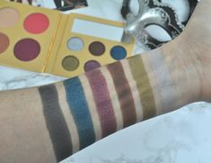 PÜR Cosmetics The Complexion Authority Midnight Masquerade Palette Swatches Makeup Swatches, Masquerade, Palette, Cosmetics, Beauty, Makeup Samples, Beauty Products, Pallet, Masquerades