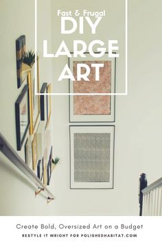 Large scale art created on the cheap! Anyone can DIY their own big wall art & 222 best Big Wall Art Ideas images on Pinterest | Wall decor 3d ...